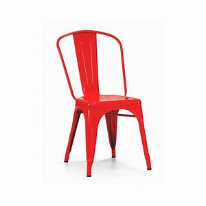 Red Baron Finish Tolix Chair TableBaseDepot