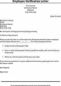 download employment verification letter template for free With voe template