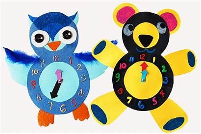 Craft Paper Animal Clocks Fun Clock Crafts