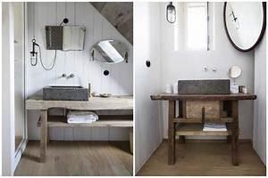 Plan Vasque Bois Brut : opter pour un meuble en bois brut pour une d co pleine d 39 authenticit ~ Teatrodelosmanantiales.com Idées de Décoration