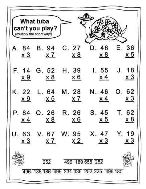 Each printable worksheet contains expressing numbers in both scientific and standard form. 3rd Grade Math Worksheets - Best Coloring Pages For Kids