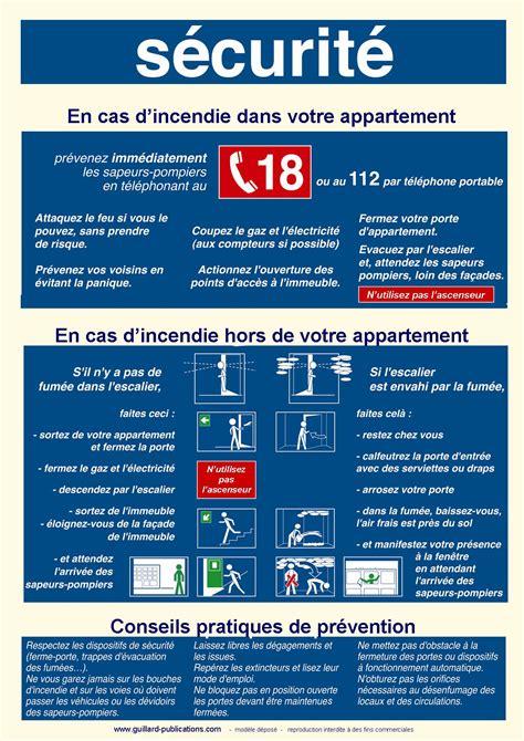 sécurité en cuisine coproprietes et hlm hab a4 panneau de consignes de