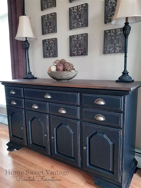 black pepper chalk style paint buffet general finishes