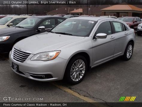 2011 Chrysler 200 Limited by Bright Silver Metallic 2011 Chrysler 200 Limited Black