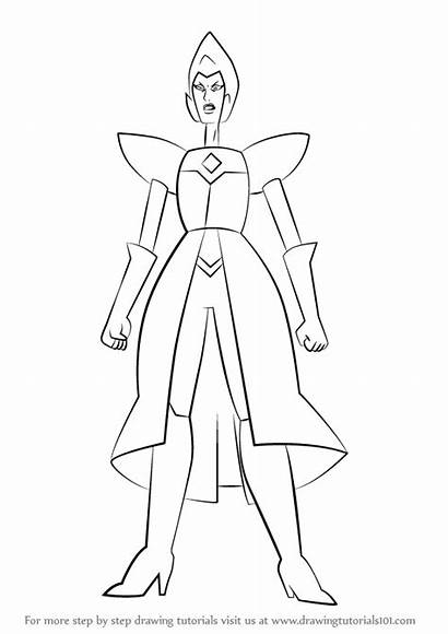 Steven Universe Coloring Draw Diamond Yellow Pearl