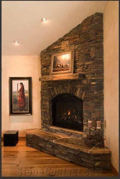 dakota stone fireplace brown granite fireplace