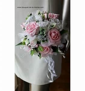 Bouquet De La Mariée : bouquet de fleurs mari e roses couleur rose ou bordeaux ~ Melissatoandfro.com Idées de Décoration