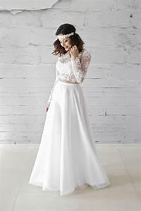 Brautkleid Vintage Schlicht : zweiteiliges brautkleid bauchfrei tolle kreation im boho ~ Watch28wear.com Haus und Dekorationen