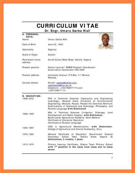 A sample of curriculum vitae pdf. Pin on DOC