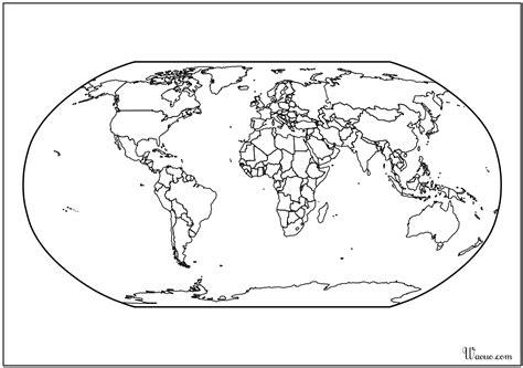 Carte Vierge Du Monde A Completer by Carte Du Monde Atlas Vierge 224 Imprimer