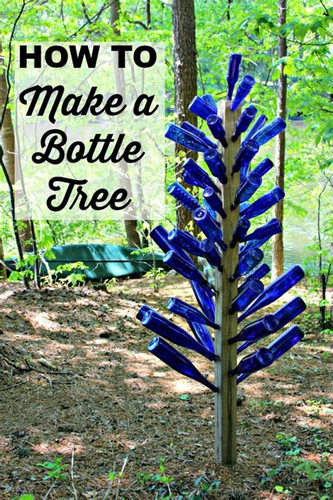 blue bottle tree mothers garden bottle art garden