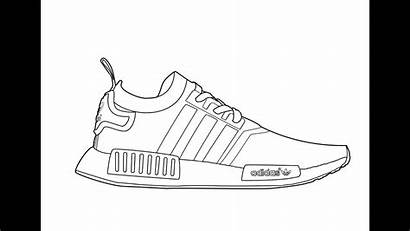 Nmd Drawing Adidas Coloring Yeezy Pages Template