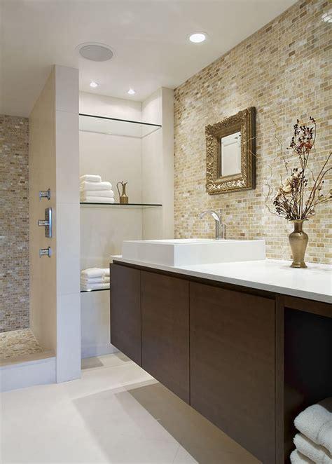 24+ Bathroom Glass Shelves Designs, Ideas  Design Trends