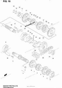 Suzuki Motorcycle 2005 Oem Parts Diagram For Transmission