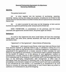sample general partnership agreement 11 documents in With articles of partnership template
