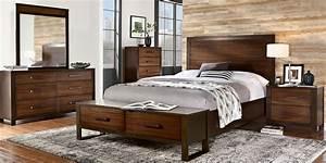 Abbott, Hazelnut, 5, Pc, Queen, Panel, Bedroom, With, Storage