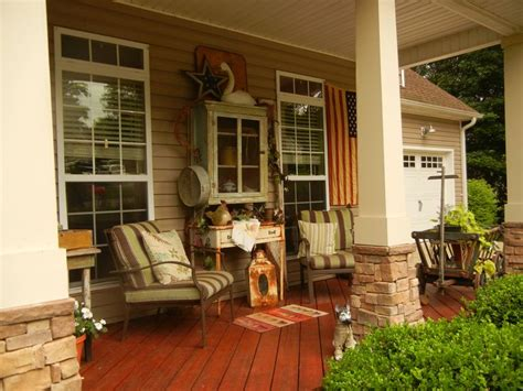 country porch with primitives outdoor projects inspiration pint