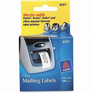 avery label printer clear multi purpose labels set of 120 With avery zebra labels