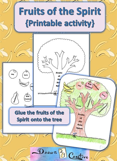 fruits   spirit printable activity drawnbcreative