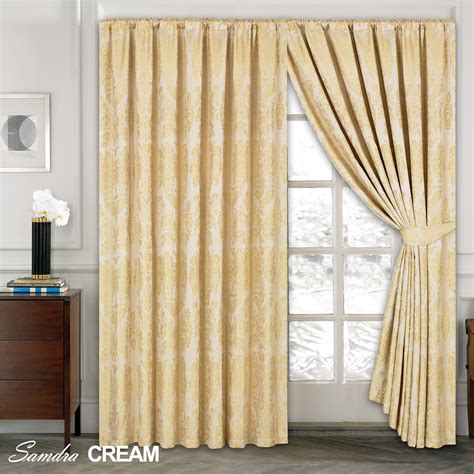 luxury jacquard curtains fully lined ready made top