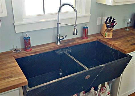 concrete kitchen sink soapstone laundry sink reused in kitchen firehouse 2431