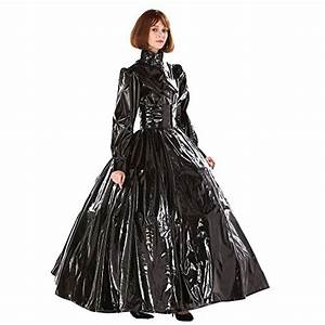Baby Color Chart Gocebaby Gothic Punk Cool Black Pvc Ball Gown Dress