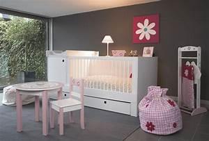 Deco Chambre Bebe Fille Gris Rose : decoration chambre bebe fille gris et rose ~ Teatrodelosmanantiales.com Idées de Décoration