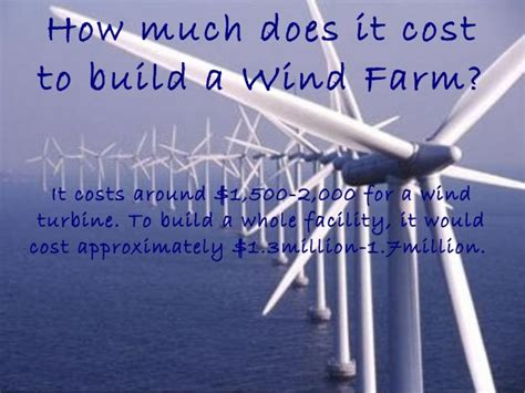 how much does it cost to build a garage wind project ms howland slide show