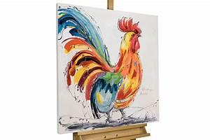 Gemälde Hirsch Modern : acryl gem lde tier motiv hahn bunt kaufen kunstloft ~ Orissabook.com Haus und Dekorationen
