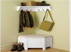 Storage for coats, corner storage bench and coat rack