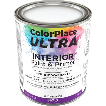 color place ultra satin interior white paint and primer 1