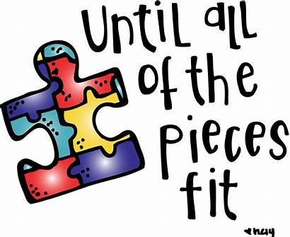 Autism Pieces Awareness Clipart Quotes Transparent Mom