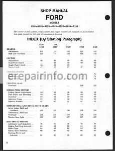 Ford New Holland 1120 1220 1320 1520 1720 1920 2120 Shop