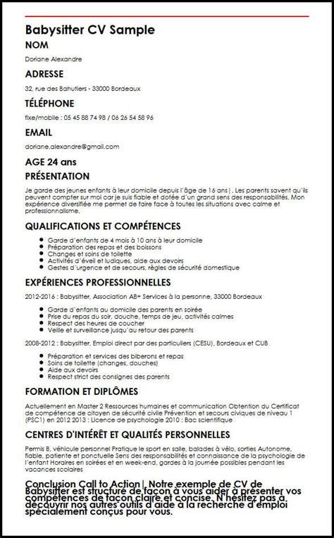 Comment Présenter Un Cv by Modele De Cv Moncvparfait