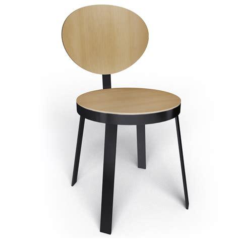 chaise noir design objeto bim y cad chaise ds no6 acier noir et chene