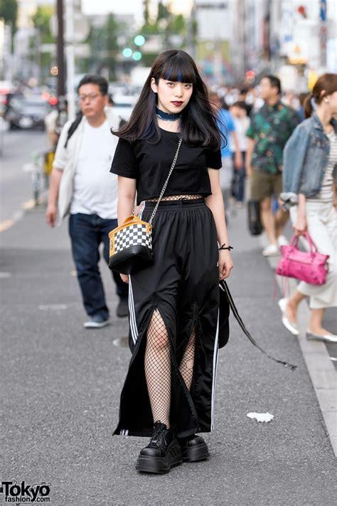 harajuku girl  dark street style  fishnets kawi