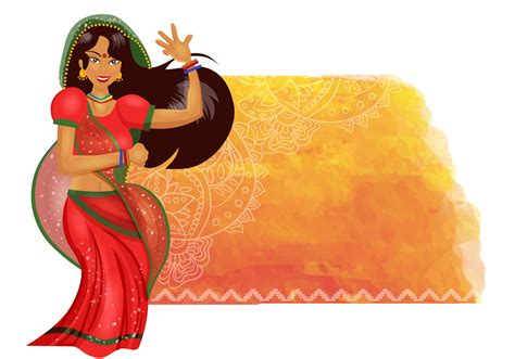 indian background dance woman vector dancing clipart flag flat drawn hand system vectors