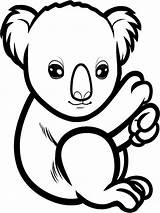 Koala Coloring Pages Animals Animal Print sketch template