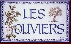 Plaque De Maison : plaques de maison en c ramique personnalis es sur plaque de lave maill e ~ Teatrodelosmanantiales.com Idées de Décoration