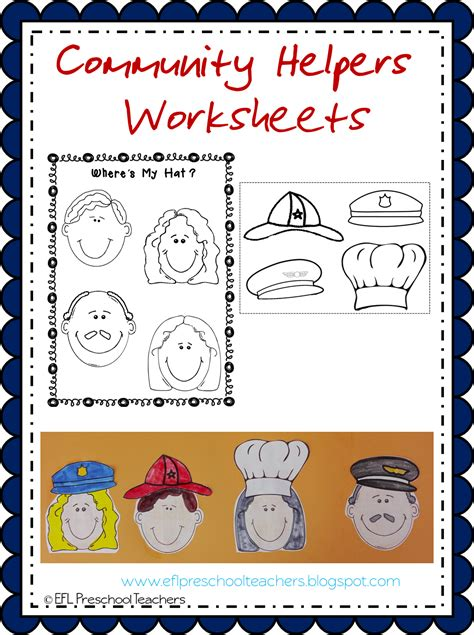 esl efl preschool teachers community helpers worksheets 246 | Imagen7