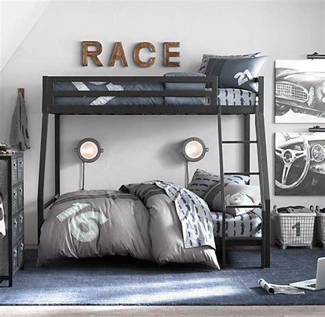 Restoration Hardware Bunk Bed by Industrial Loft Boy S Bedroom Bunk Bed