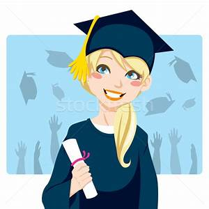 Graduate Girl vector illustration © Kakigori (#933865 ...