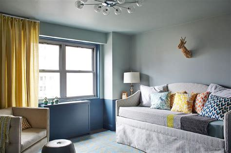blue gray walls design ideas