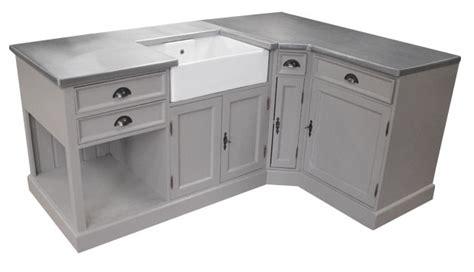 cuisine en zinc cuisine d 39 angle sur mesure pin zinc