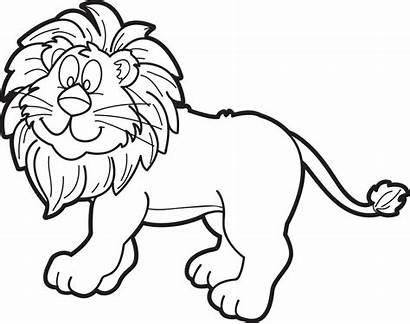 Lion Coloring Male Cartoon Printable