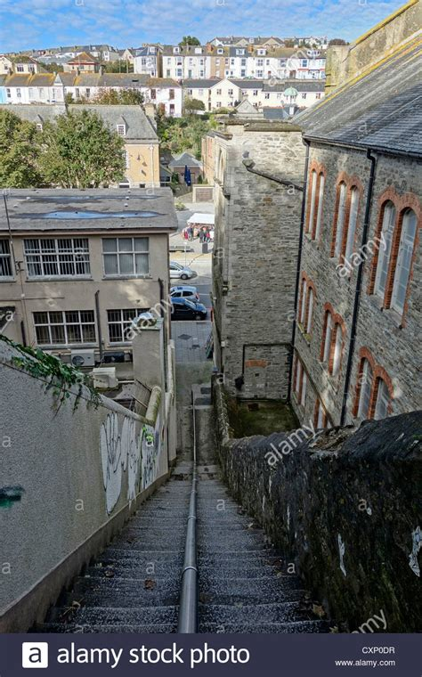 looking jacob s ladder steps in falmouth cornwall uk