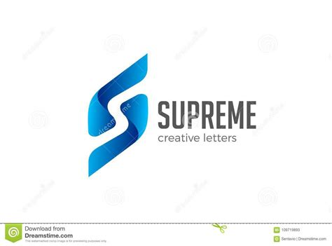 s logo icon design alphabet letter stylish letter s logo vector negative space corporate emb stock