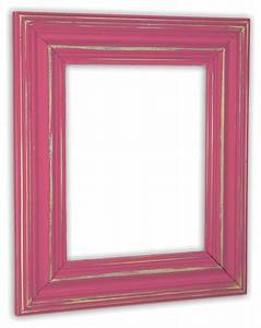 Wide Distressed Berry Pink Picture Frame, Solid Wood ...