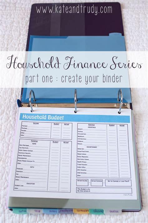 household finance series create  binder part