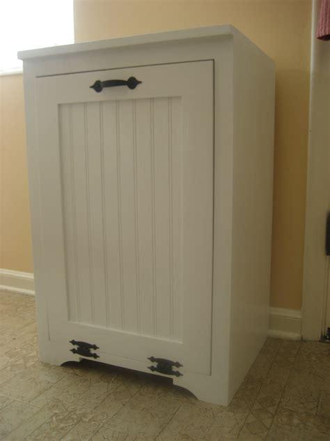 wood tilt out trash cabinet ana white tilt out wood trash can cabinet diy projects